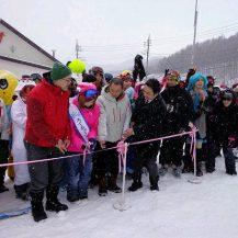 昨年のスキー場開きの様子